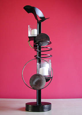 Sculpture - Candle Holder Model 7 by John Gibbs