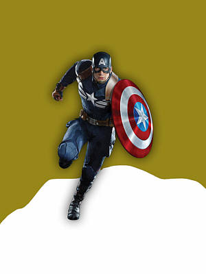 The Avengers Mixed Media - Captain America Collection by Marvin Blaine