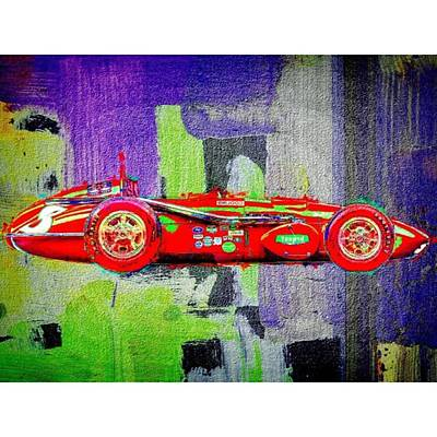 Painted Photograph - #car #sportscar #racecar #nascar by David Haskett