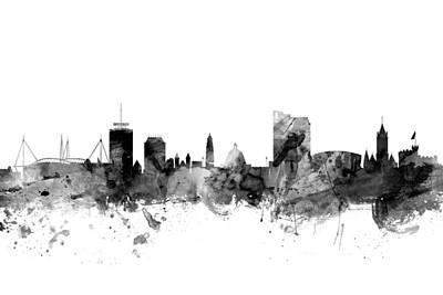 Wales Digital Art - Cardiff Wales Skyline by Michael Tompsett