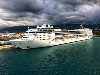 Photograph - Caribbean Cruise Ship by Anthony Dezenzio