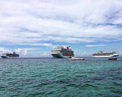 Photograph - Caribbean Cruise Ships by Anthony Dezenzio