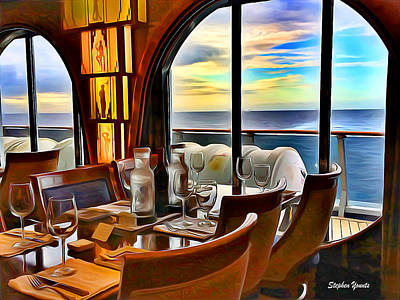 Digital Art - Carnival Pride Normandie Restaurant by Stephen Younts