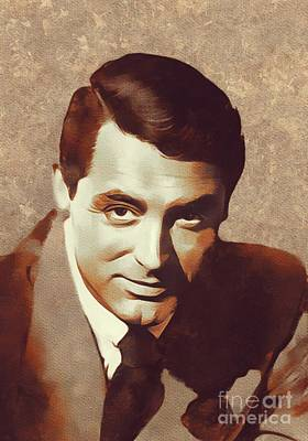 Cary Grant Wall Art - Painting - Cary Grant, Hollywood Legend by Mary Bassett