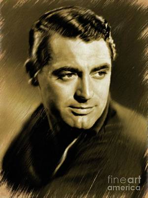 Painting - Cary Grant, Vintage Actor by Mary Bassett