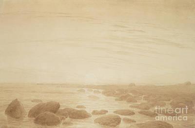 Moonrise On The Sea Art Print