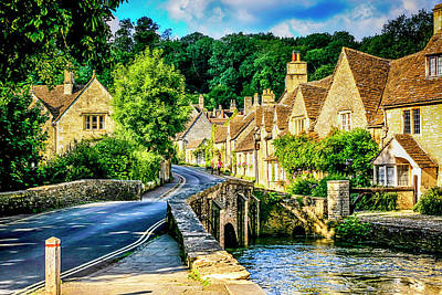 Castle Combe Village, Uk Art Print