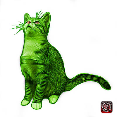 Painting - Cat Art - 3771 Wb by James Ahn