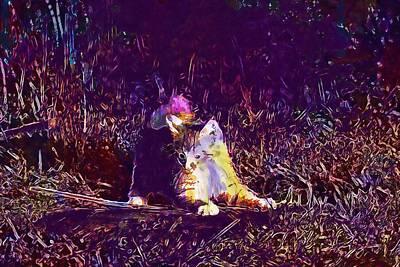 Digital Art - Cat Kitten Cat Baby Young Cat  by PixBreak Art