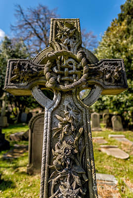 Grave Photograph - Celtic Cross by Adrian Evans