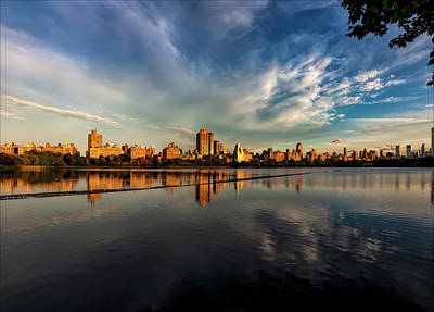 Photograph - Central Park Reservoir Panorama  by Robert Ullmann