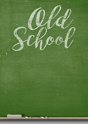 Duster Digital Art - Chalk Board by Allan Swart