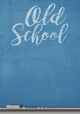 Duster Digital Art - Chalk Board Split by Allan Swart