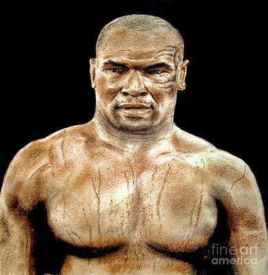 Painting - Champion Boxer And Actor Mike Tyson by Jim Fitzpatrick