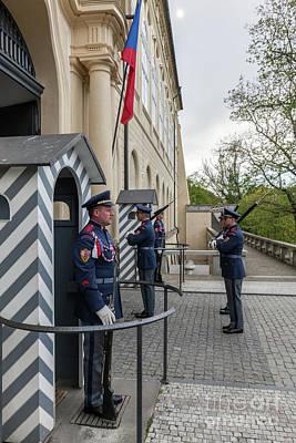 Castle Photograph - Changing Of The Guards Of Prague Castle. Prague, Czech Republic by Michal Bednarek