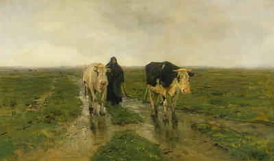 Field. Cloud Painting - Changing Pasture by Anton Mauve