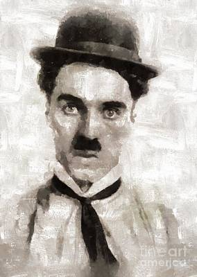 Charlie Chaplin Painting - Charlie Chaplin Hollywood Legend by Mary Bassett
