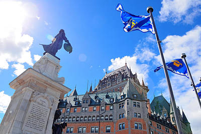 Photograph - Chateau Frontenac In The Day  by Songquan Deng