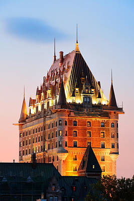 Photograph - Chateau Frontenac by Songquan Deng