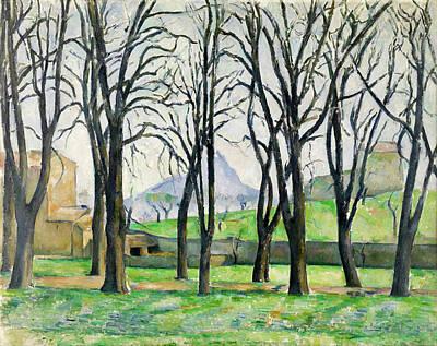 Chestnut Trees At Jas De Bouffan  Art Print