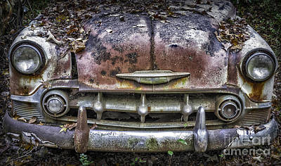Photograph - 1954 Chevrolet Front End by Walt Foegelle