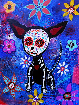 Chihuahua Day Of The Dead Art Print by Pristine Cartera Turkus