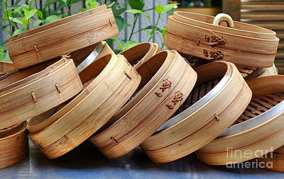 Photograph - Chinese Bamboo Steamers by Yali Shi