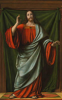 Painting - Christ Blessing by Andrea Solario