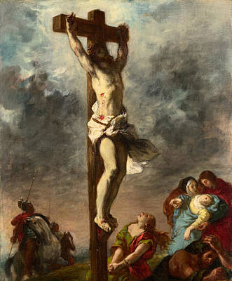 Crucify Painting - Christ On The Cross by Eugene Delacroix