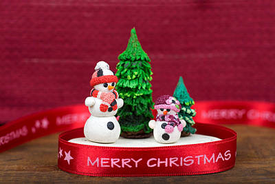 Clay Modeling Photograph - Christmas Decoration by Boyan Dimitrov