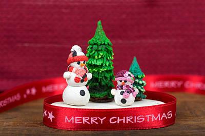 Plasticine Photograph - Christmas Decoration by Boyan Dimitrov