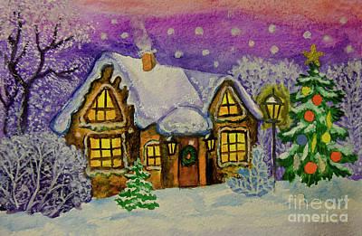 Painting - Christmas House by Irina Afonskaya