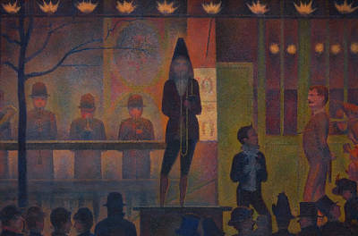 Stage Lights Painting - Circus Sideshow by Georges Seurat