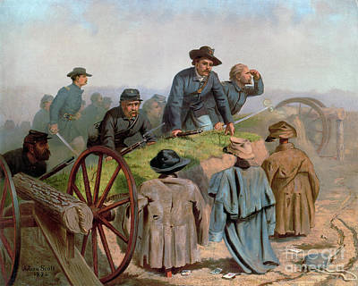 Drawing - Civil War, Battlefield.  by Granger