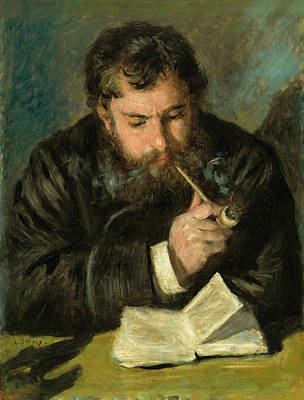 Book Painting - Claude Monet by Pierre-Auguste Renoir