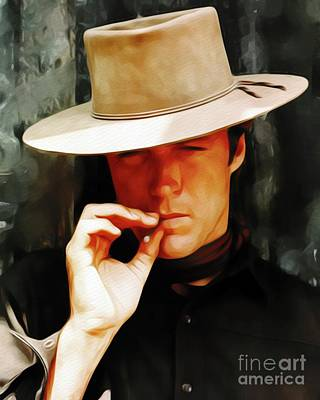 Painting - Clint Eastwood, Movie Star by John Springfield