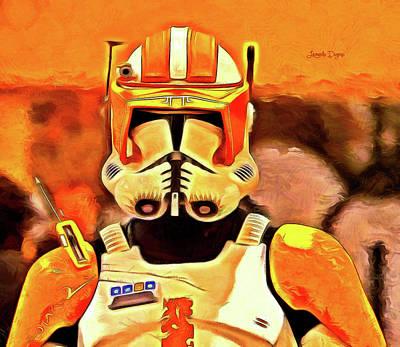 Ray Painting - Clone Trooper Commander - Van Gogh Style by Leonardo Digenio