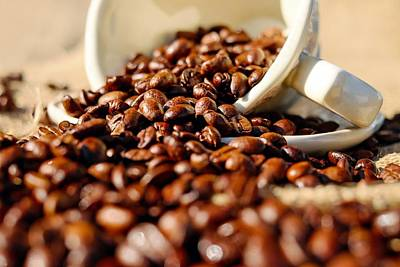 Photograph - Coffee Beans by Tilen Hrovatic