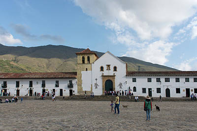 Digital Art - Colombia Villa De Leyva Plaza Meyor by Carol Ailles