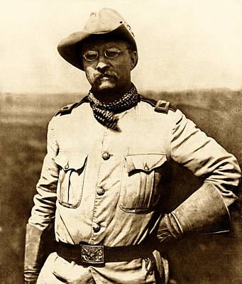 Patriot Photograph - Colonel Theodore Roosevelt by War Is Hell Store