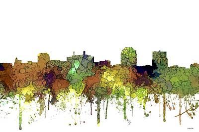 Digital Art - Colorado Springs Colorado Skyline by Marlene Watson