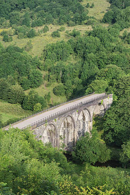 Photograph - Colorful Landscape Image Of Headstone Viaduct And Monsal Head In by Matthew Gibson