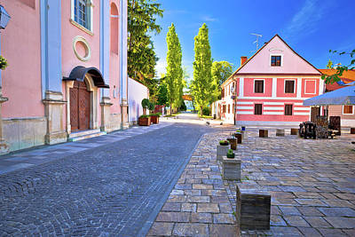 Photograph - Colorful Street Of Baroque Town Varazdin View by Brch Photography
