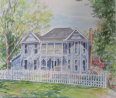 Painting - Commissioned Home Portrait by Gloria Turner