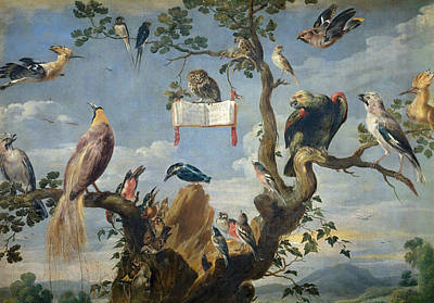 Cloudy Painting - Concert Of Birds by Frans Snyders