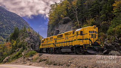 Photograph - Conway Scenic Railroad Notch Train. by New England Photography