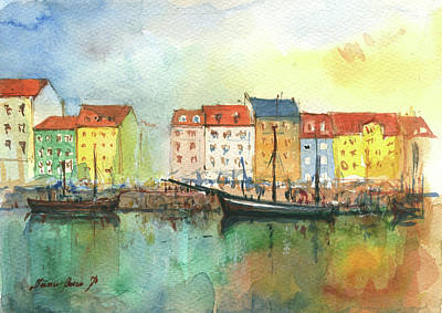 Painting - Copenhagen  by Juan Bosco