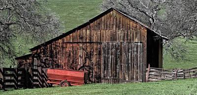 Country Barn Art Print by Floyd Hopper