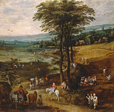 Out Of The Woods Painting - Country Life by Jan Brueghel the Elder