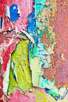 Cracked Paint Art Print by Tom Gowanlock